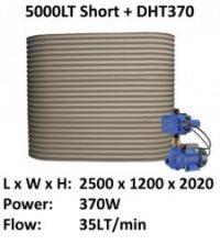 5000lt short colorbond slimline small garden