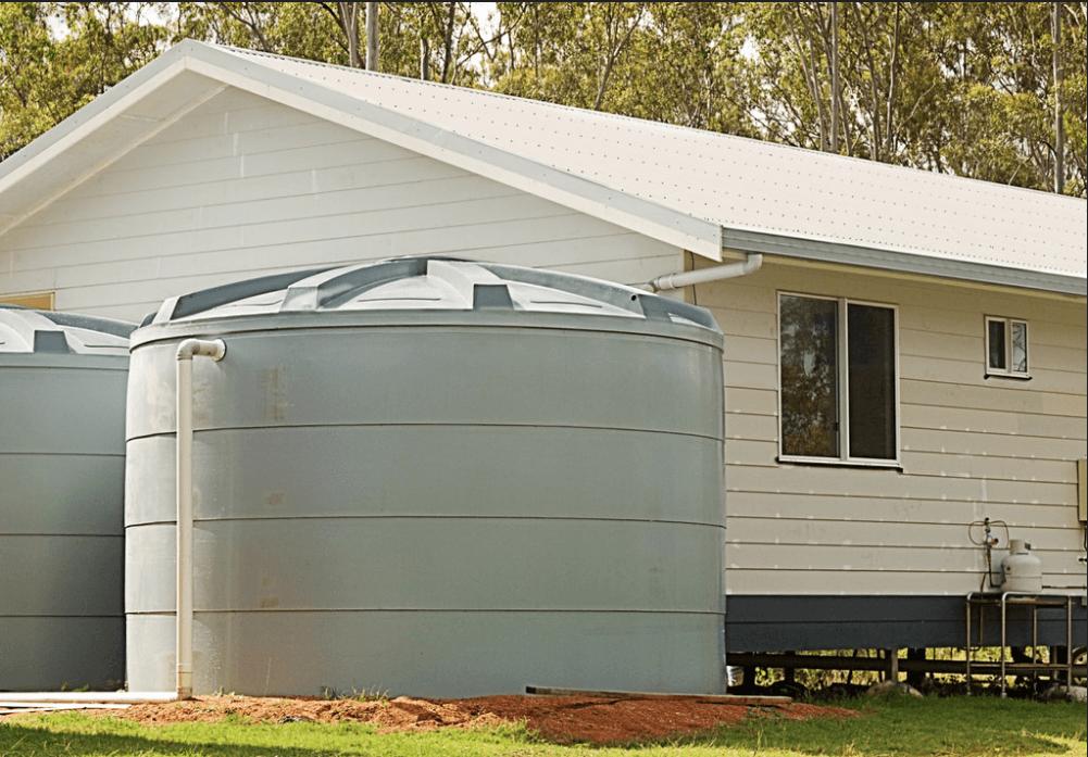 big rainwater tank