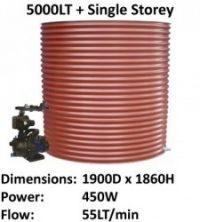 aquaplate 5000lt round single storey
