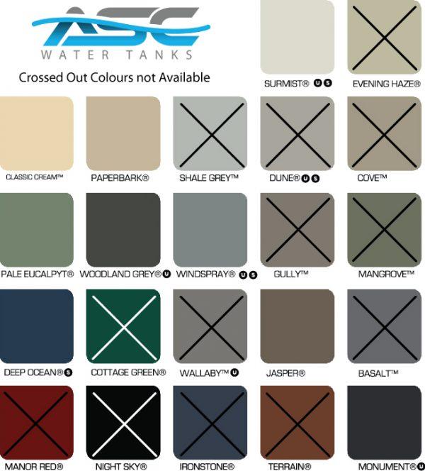 asc colorbond colours