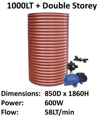 Water tank with pumps - 1000 LT